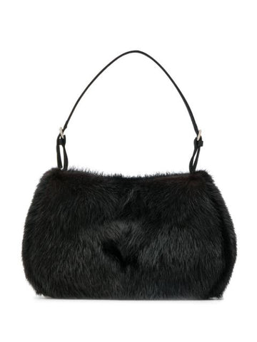 PRADA shoulder fur black