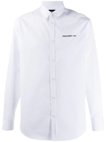 DSQUARED contrasting lettering logo shirt