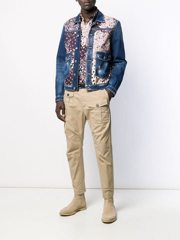 DSQUARED floral printed shirt