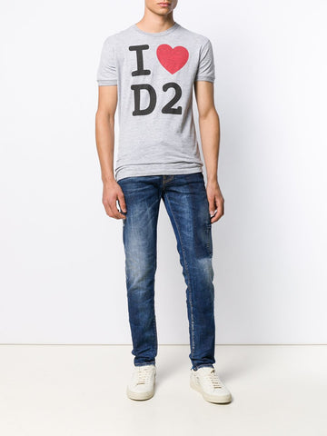 DSQUARED I Love D2 printed T-shirt