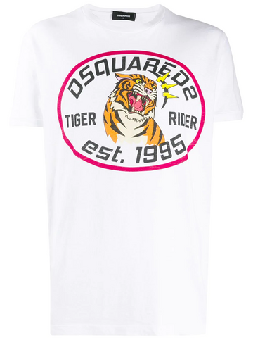 DSQUARED Tiger Rider print T-shirt