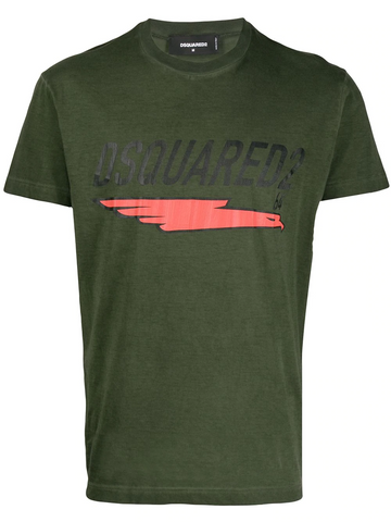 DSQUARED underlined logo print T-shirt
