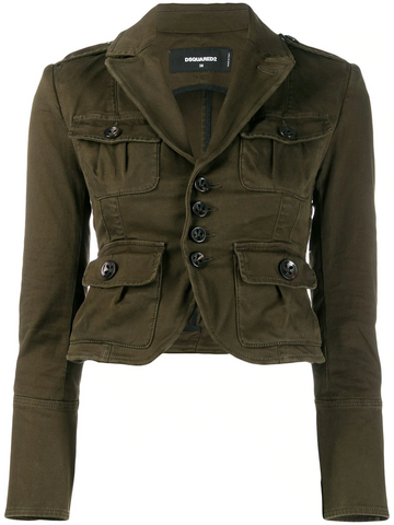 DSQUARED military style blazer jacket