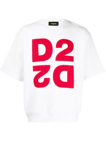 DSQUARED sweatshirt D2 printed boxy T-shirt