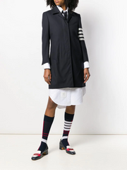 THOM BROWNE engineered 4-bar overcoat