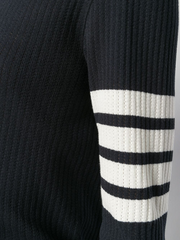THOM BROWNE 4-Bar Mesh Stitch Tee