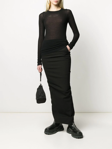 RICK OWENS ribbed-knit top
