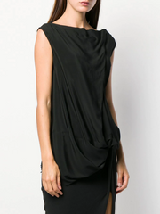 RICK OWENS ruched effect tunic