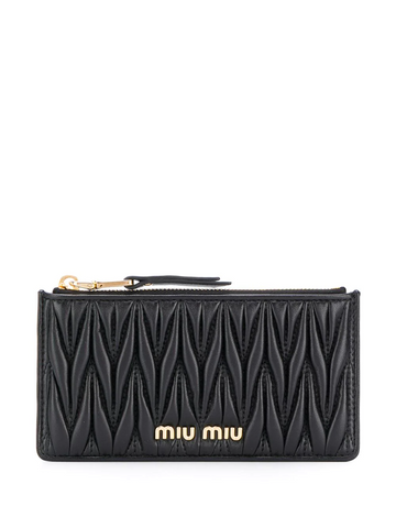 MIU MIU logo card holder purse