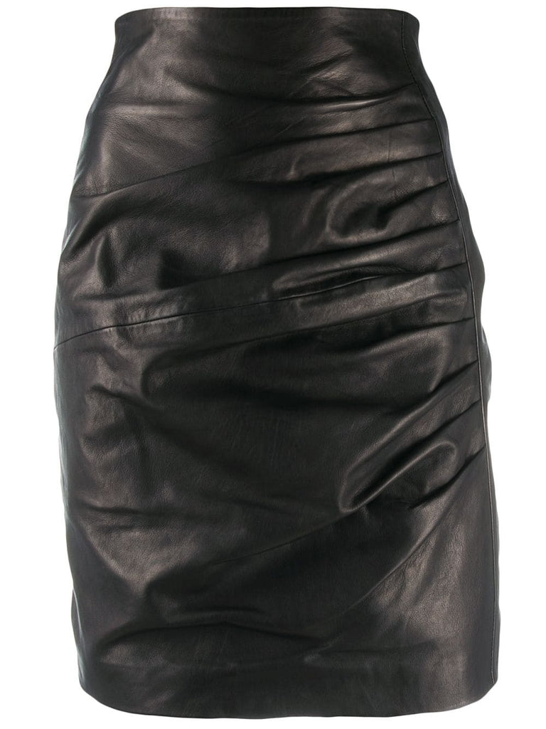 PAROSH drape detail skirt