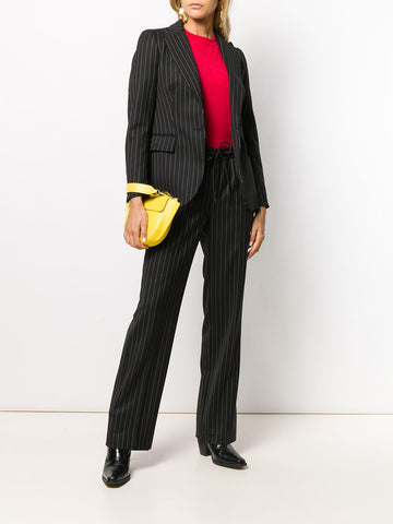 PAROSH striped straight-leg trousers