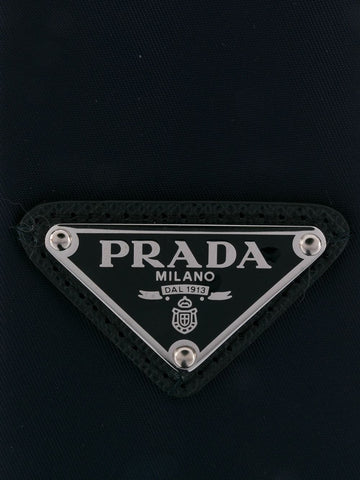 PRADA triangular logo patch tie