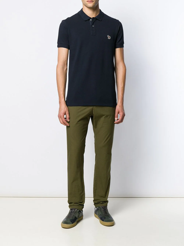 PAUL SMITH embroidered logo polo shirt