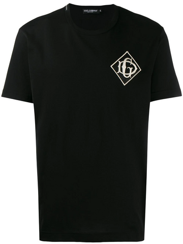 DOLCE & GABBANA embroidered logo patch T-shirt