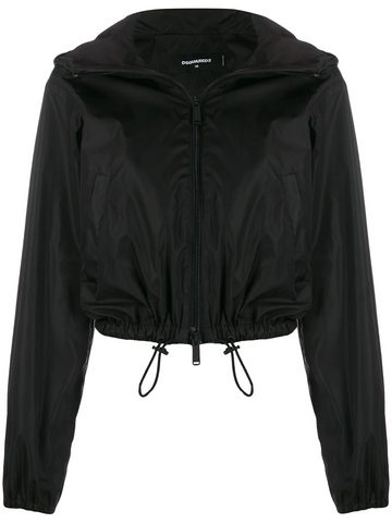 DSQUARED logo print hooded jacket