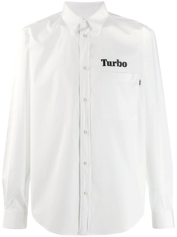 MSGM Turbo embroidered shirt
