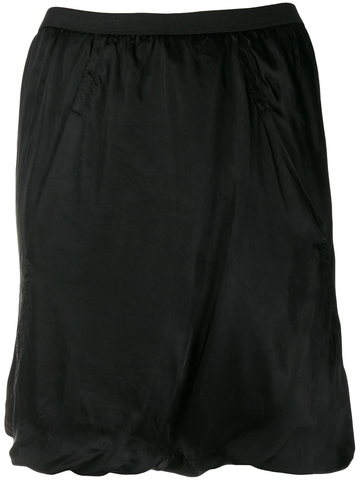 RICK OWENS ruched design skirt