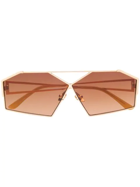 SELF PORTRAIT geometric aviator sunglasses