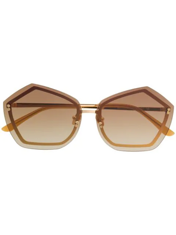 SELF PORTRAIT geometric framed sunglasses