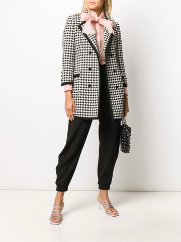 MSGM double breasted houndstooth blazer