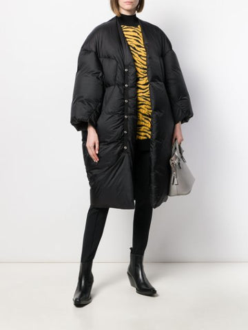 RICK OWENS COAT BLACK