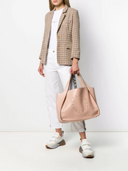 STELLA McCARTNEY perforated logo tote
