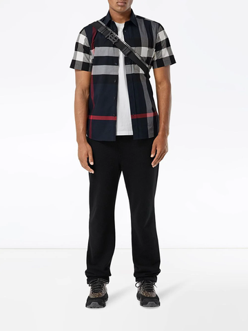 BURBERRY checked shortsleeved shirt
