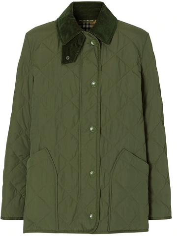 BURBERRY diamond quilted barn jacket