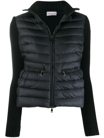 MONCLER contrast sleeve puffer jacket