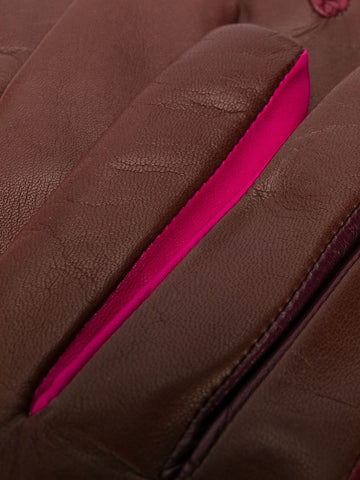PAUL SMITH Glove con swirl burg