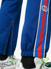 GUCCI striped chino track pants