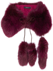GUCCI purple fur scarf