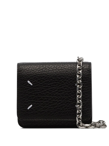 MAISON MARGIELA four-stitch chain-strap wallet