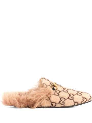 GUCCI monogram Princetown slippers
