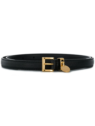 PRADA belt black gold ciondolino brand