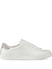 GUCCI perforated logo sneakers