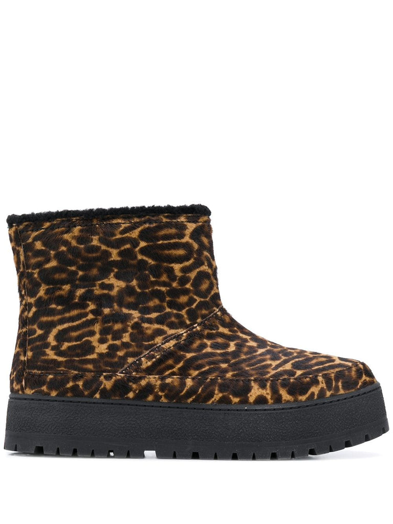 PRADA padded leopard ankle boots