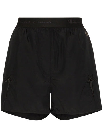 RICK OWENS x Champion high waist shorts