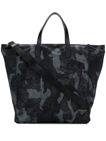 PRADA bag SHOPPING VELA STAMPA MILITARE