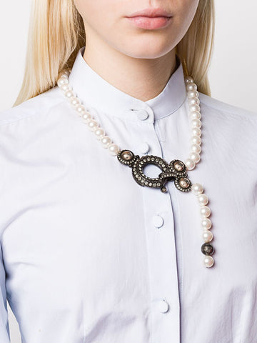 LANVIN pearl embellished necklace