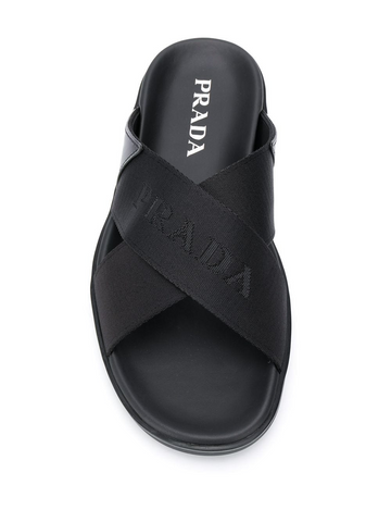 PRADA cross straps sandals