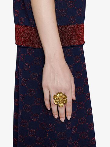 GUCCI flower detail ring
