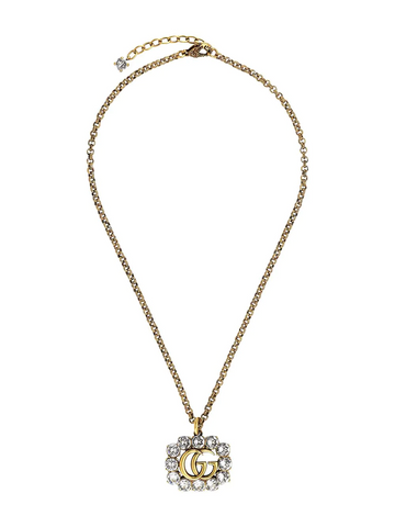 GUCCI embellished Double G necklace