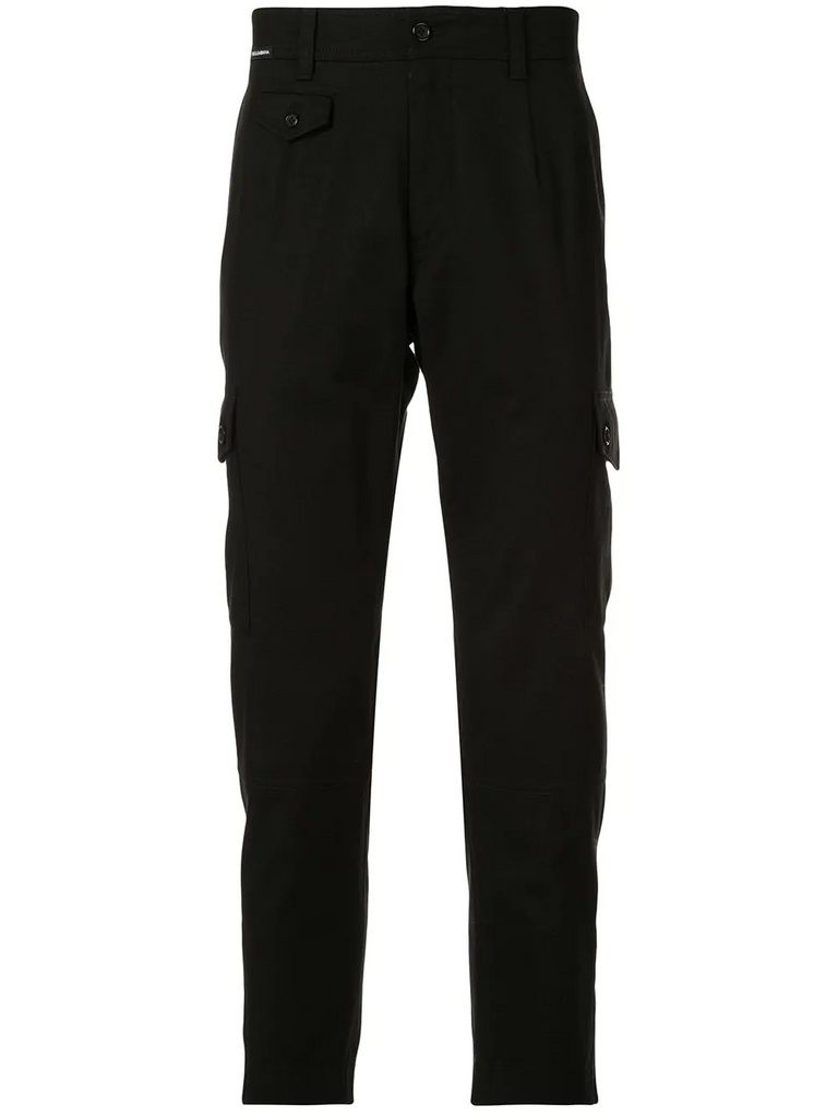 DOLCE&GABBANA multi-pocket tapered trousers