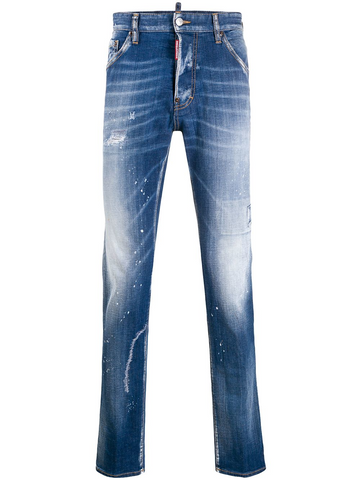 DSQUARED distressed slim-fit jeans