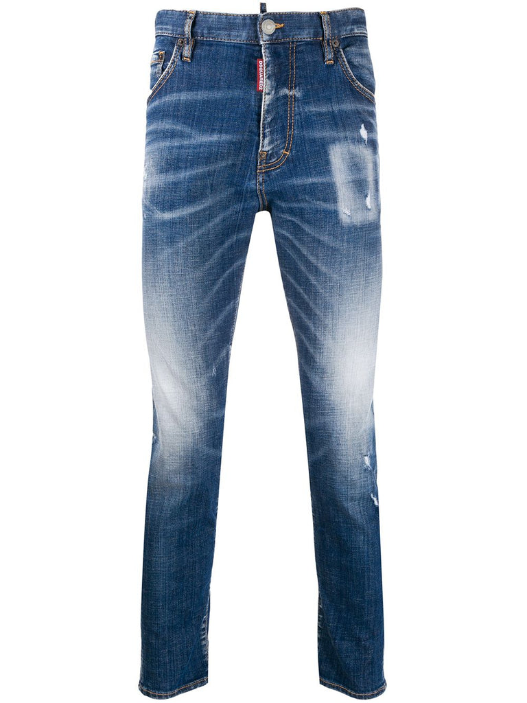 DSQUARED distressed skinny jeans