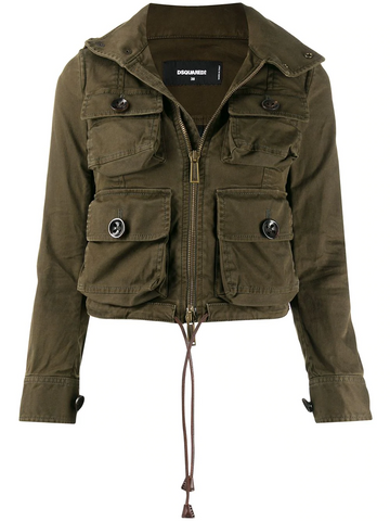 DSQUARED cropped utility jacket