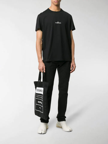 MAISON MARGIELA embroidered upside-down logo T-shirt