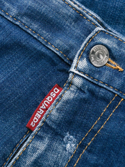 DSQUARED ink splashes straight jeans