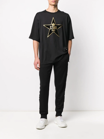 DOLCE&GABBANA star print cotton T-shirt